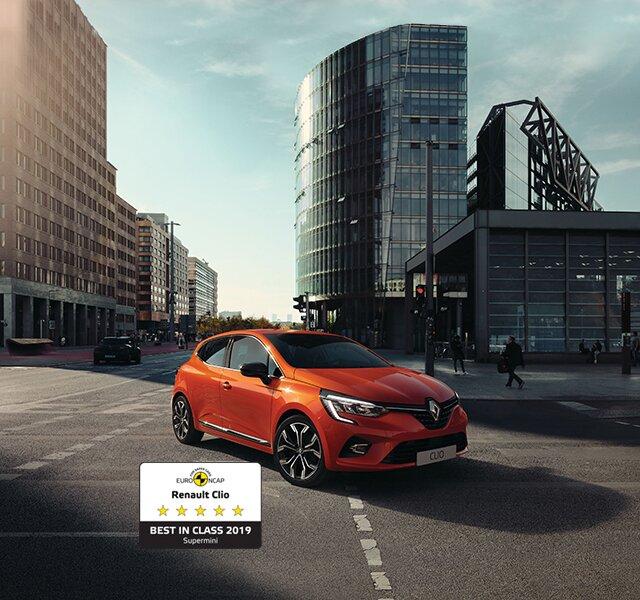 CLIO – småbil – orange exteriör