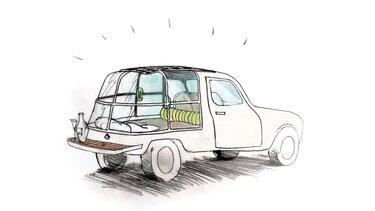 Skica konceptnega avtomobila Renault 4L