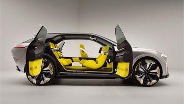 Renault Morphoz v studiu, s strani