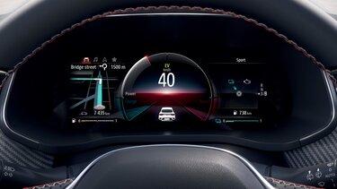 Renault MEGANE Conquest E-TECH hibrid SUV – zaslon za vozača