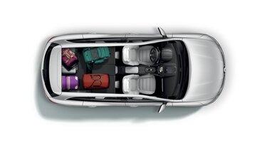 Objem batožinového priestoru Renault Koleos