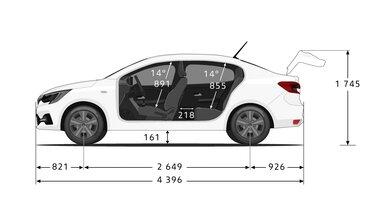 Yeni Renault Taliant  yan boyutları