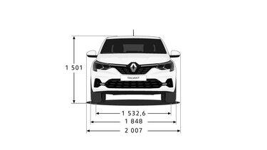 Yeni Renault Taliant  ön yüz boyutları
