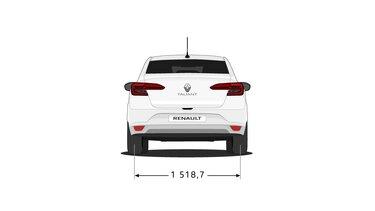 Yeni Renault Taliant  arka boyutları