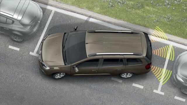 Renault LOGAN MCV - Екран камери заднього виду