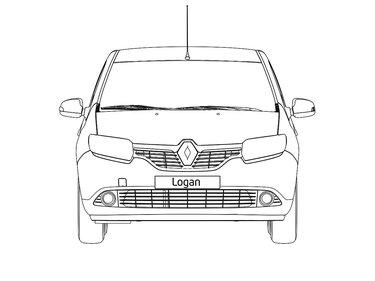 LOGAN - габарити спереду