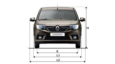 Renault SANDERO - габарити спереду